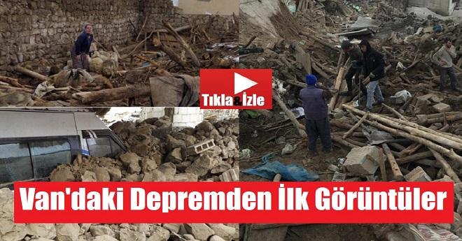 Van'daki Depremin İlk Görüntüleri