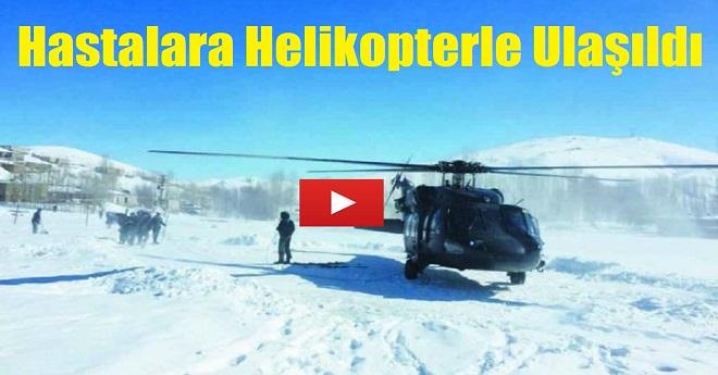 Yolu Kapalı Olan Hastaya Helikopterle Ulaştılar