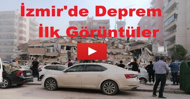 İzmir'deki Depremin İlk Görüntüleri