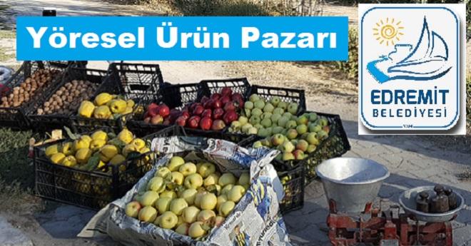 Edremit'in Yöresel Ürünleri İçin Pazar Açılıyor
