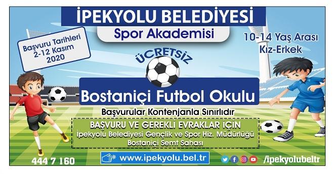 Van'da Ücretsiz Futbol Akademisi Açılıyor
