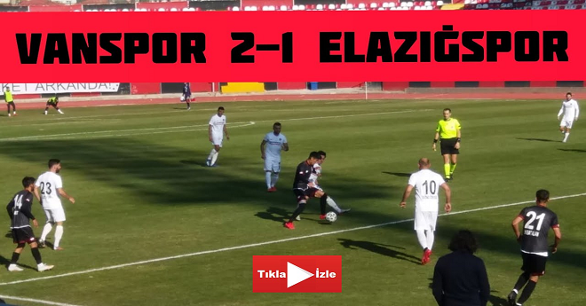 Vanspor 2- 1 Elazığspor