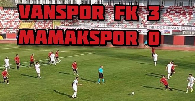 Vanspor 3-0 Mamak (Maç Özeti)