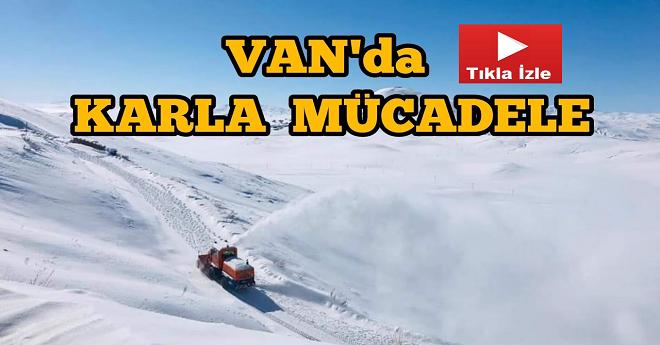 Van Kırsalında Karla Mücadele Devam Ediyor