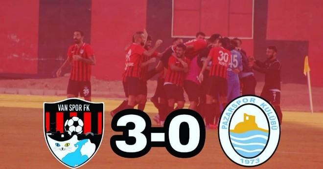 Vanspor 3 – 0 Pazarspor (Maç Özeti)