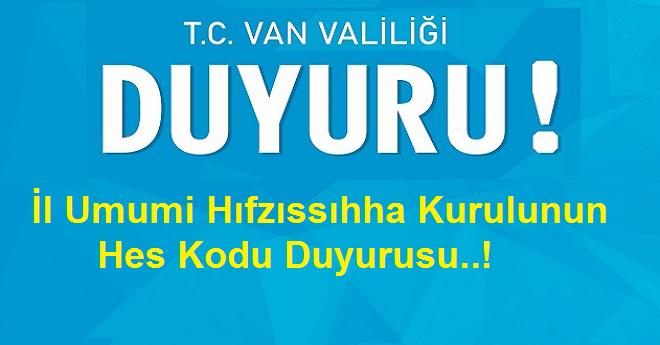 Son Dakika Van Duyuru