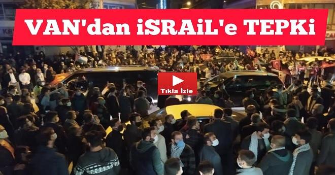 Vanlılardan İsraile Tepki