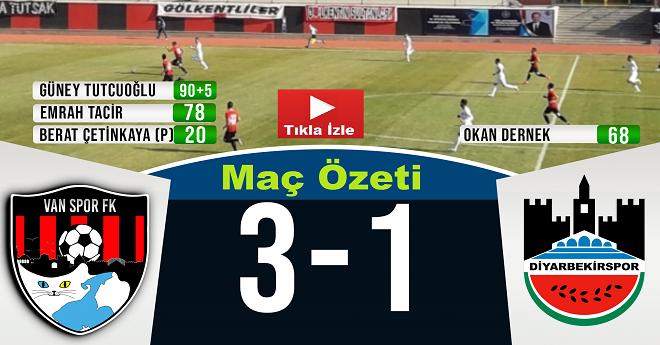 Vanspor FK 3 – 1 Diyarbekir Maç Özeti