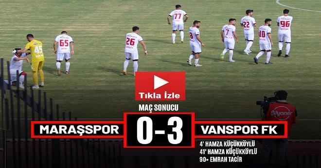 Kahramanmaraşspor  0-3 Vanspor Fk (Maç Golleri)