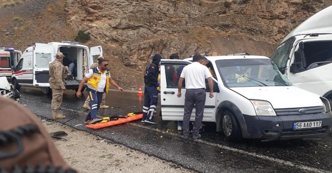 van trafik kazası çatak