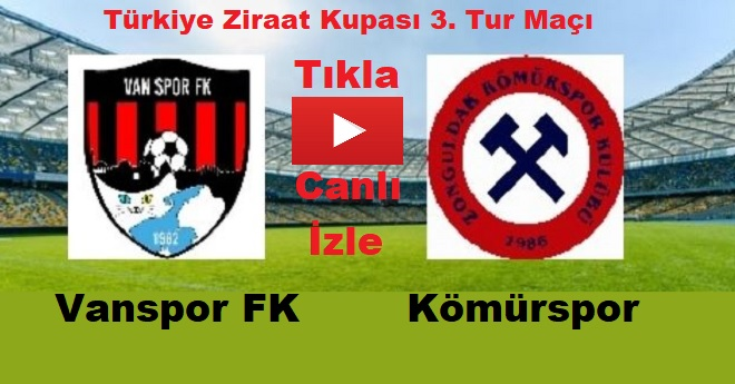 Vanspor Ziraat Türkiye Kupası 3. Tur Eleme Maçına Çıkıyor
