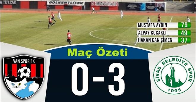 Vanspor 0-3 Sivas Belediyespor (Maç Özeti)