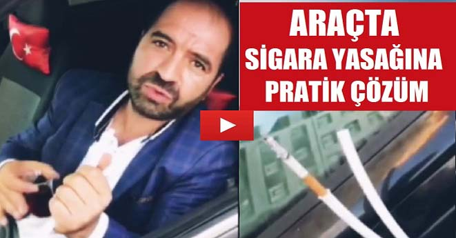 Araçta Sigara Yasağına Pratik Çözüm