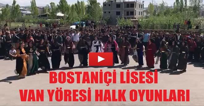 Van Bostaniçi Lisesi Halk Oyunları Gösterisi