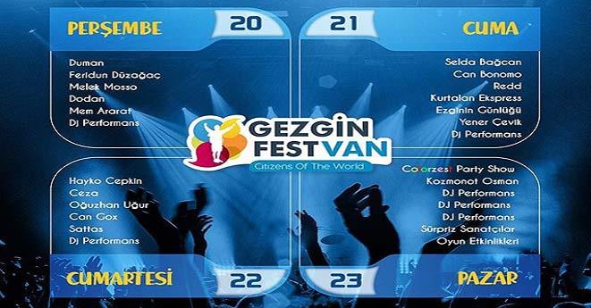 Gezginfest Van Dört Yeni Sanatçısını Daha Açıkladı