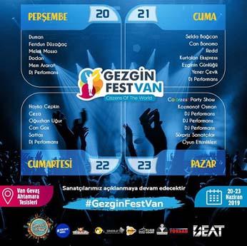 Gezginfest Van Program Saatleri