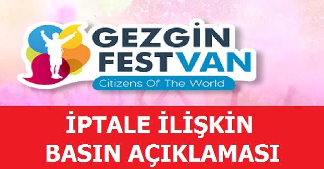Gezinfest Van İptal Edildi