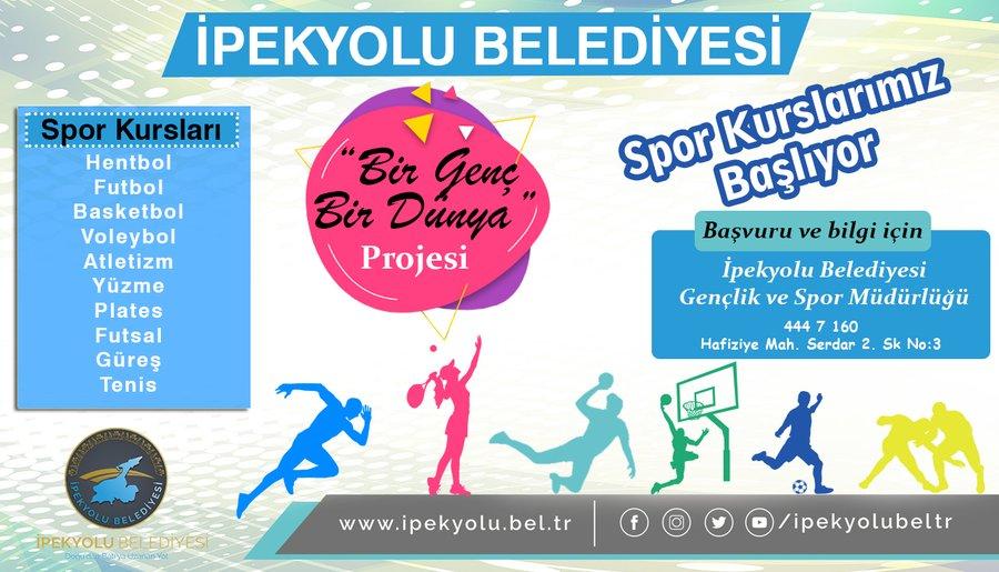 İpekyolu'nun Spor Kursları Başlıyor