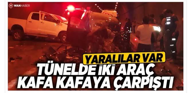 Kuskunkıran Tünelinde Trafik Kazası
