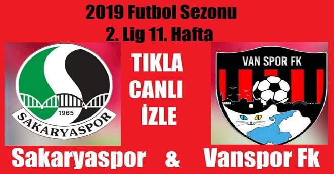 Sakaryaspor-Vanspor Maçı Canli izle