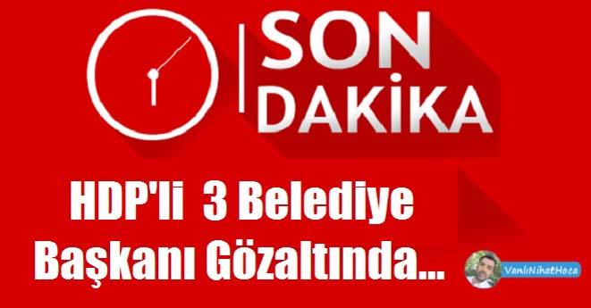 Van'da Üç HDP'li Belediye Başkanı Gözaltında