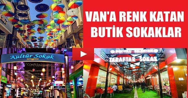 Van'a Renk Katan Butik Sokaklar