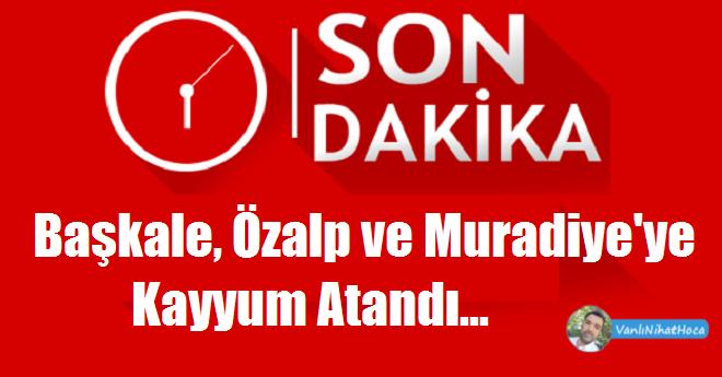 Van'ın Başkale Muradiye ve Özalp Belediyelerine Kayyum Atandı.