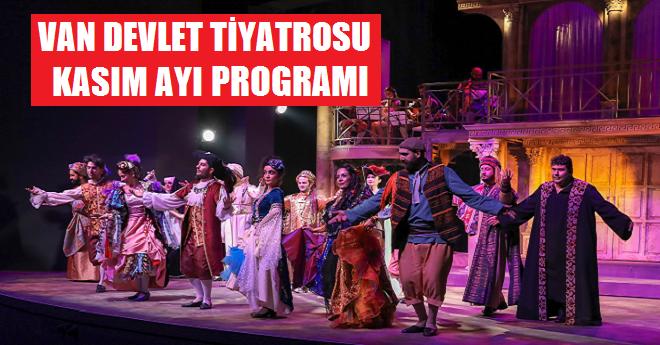 Van Devlet Tiyatrosu Kasım Ayı Programı
