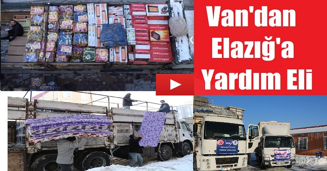 Deprem Acısını Bilen Vanlılardan Elazığ'a Destek