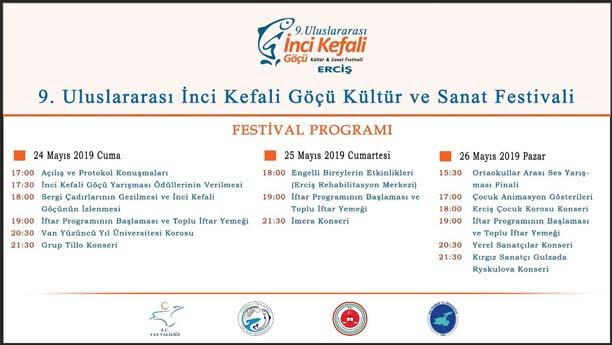 İnci Kefali Festival Proğramı