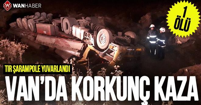Van'da Korkunç Kaza: 1 Ölü