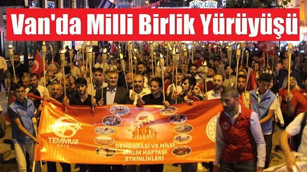 Van'da Milli Birlik Yürüyüşü