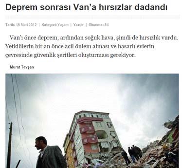 Van Deprem Efsaneleri