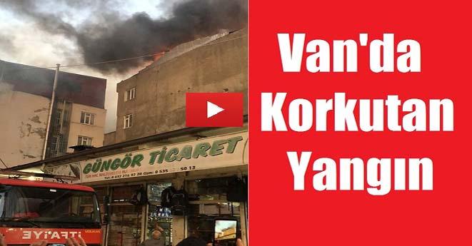 Van'da Korkutan Yangın