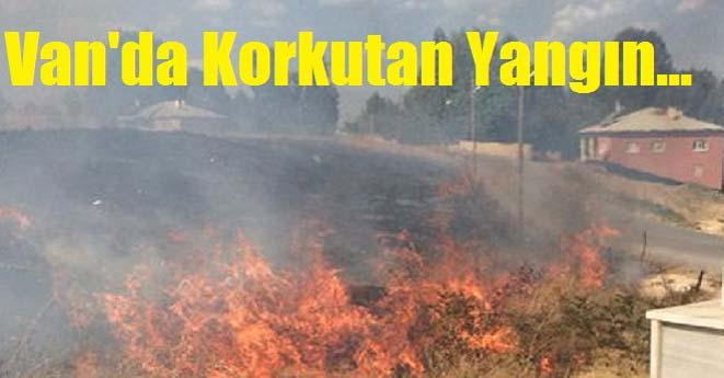 Van Edremit'de Korkutan Yangın