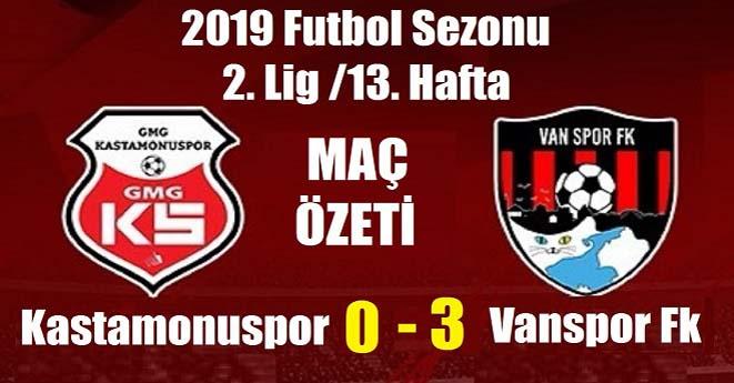 Kastamonuspor 0-3 Vanspor (Maç Özeti)