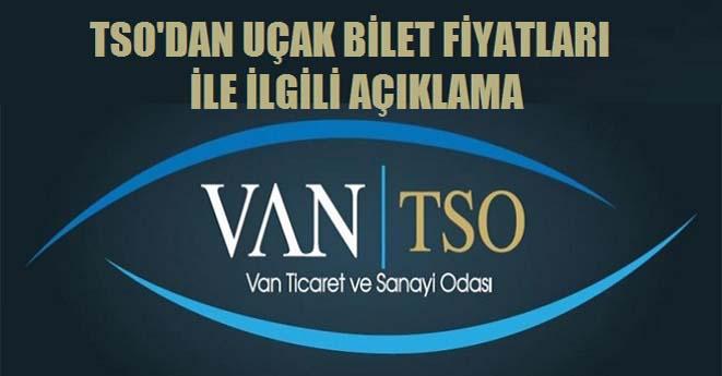 Van TSO'dan Uçak Bilet Açıklaması