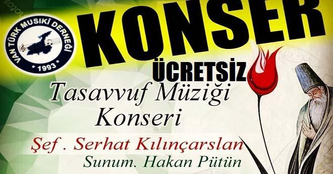 Türk Musiki Derneğinden Tasavvuf Konseri