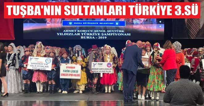 Tuşba'nın Sultanları Türkiye Üçüncüsü Oldu