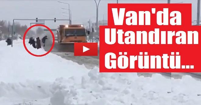 Van'da Utandıran Görüntüler