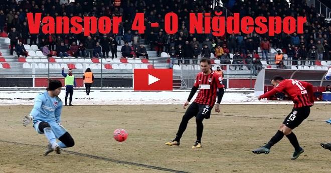 Vanspor 4 – 0 Niğdespor