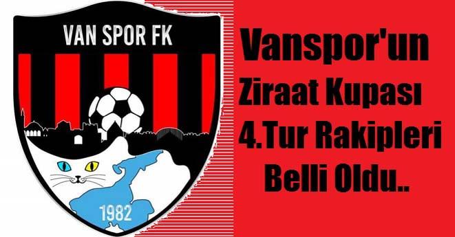 Vanspor'un Kupa Rakipleri Belli Oldu